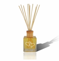Personalized Reed Diffuser Complete with oil Double Heart