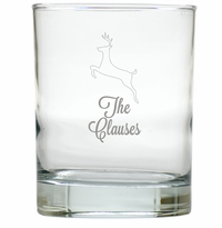 PERSONALIZED REINDEER OLD FASHIONED - SET OF 4 (Unbreakable)