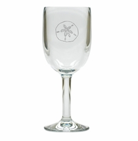 SAND DOLLAR WINE STEMWARE - SET OF 4 (Unbreakable)
