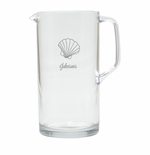 PERSONALIZED SCALLOP PITCHER  (Unbreakable)