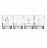 PERSONALIZED SEA OLD FASHIONED - SET OF 4 (Unbreakable)