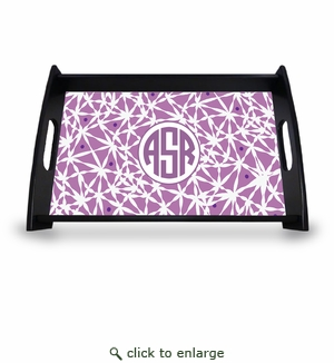 "Personalized Serving Tray - 11"" x 17""Asian Elements - LavenderCircle Monogram"