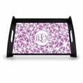 "Personalized Serving Tray - 11"" x 17""Asian Elements - LavenderVine Monogram"