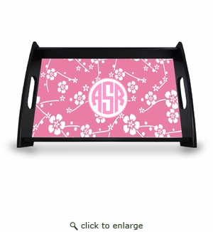 "Personalized Serving Tray - 11"" x 17""Asian Elements - SatsumaCircle Monogram"
