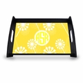 "Personalized Serving Tray - 11"" x 17""Asian Elements - VerbenaCircle Monogram"