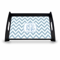"Personalized Serving Tray - 11"" x 17""Chevron Vine Monogram"