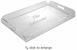PERSONALIZED SERVING TRAY WITH HANDLES