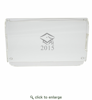 PERSONALIZED SERVING TRAY WITH HANDLES: GRADUATION CAP with DATE