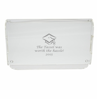 PERSONALIZED SERVING TRAY WITH HANDLES: TASSEL WORTH THE HASSLE