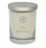 PERSONALIZED SNOWFLAKE ECO-LUXURY SOY CANDLE