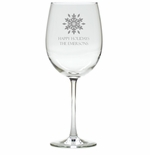 PERSONALIZED SNOWFLAKE WINE STEMWARE - SET OF 4 (GLASS)