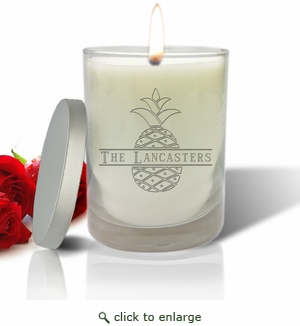 PERSONALIZED SPLIT LETTER PINEAPPLE ECO-LUXURY SOY CANDLE