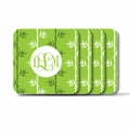 Personalized Square Coasters ( Set of 4)Asian Elements - Green TeaVine Monogram