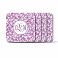 Personalized Square Coasters ( Set of 4)Asian Elements - LavenderVine Monogram