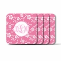Personalized Square Coasters ( Set of 4)Asian Elements - SatsumaVine Monogram