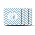 Personalized Square Coasters ( Set of 4)Chevron Vine Monogram