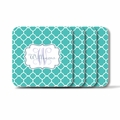 Personalized Square Coasters ( Set of 4)Moroccan Vine Initial and Name