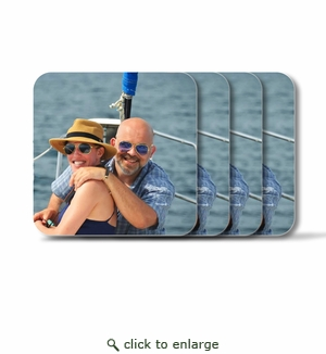 Personalized Square Coasters ( Set of 4)Photo