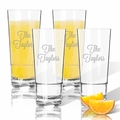 Personalized Tritan Highball (Cooler) Glasses 16 oz (Set of 4) (Tritan Unbreakable)