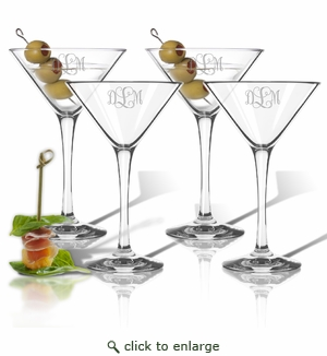 Personalized Tritan Martini (Cocktail) Glasses 8 oz (Set of 4) (Tritan Unbreakable)