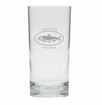 PERSONALIZED TROUT LAKE HOUSE HIGHBALL: SET OF 4 (Unbreakable)
