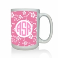 Personalized White Mug  15 oz.Asian Elements - SatsumaCircle Monogram