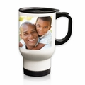 Personalized White Stainless Steel Travel Mug - 14 oz.Photo