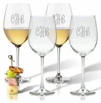 PERSONALIZED WINE STEMWARE - SET OF 4 (GLASS)