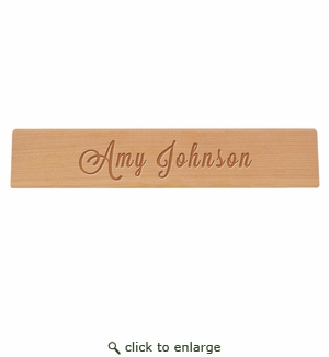 Personalized Wooden Desk Plate