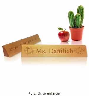 Personalized Wooden Desk Plate : ART