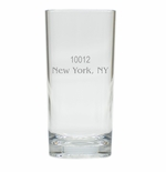 PERSONALIZED ZIP CODE HIGHBALL: SET OF 4 (Unbreakable)