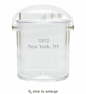 PERSONALIZED ZIP CODE ICE BUCKET WITH TONGS