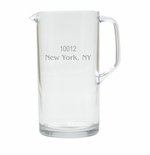 PERSONALIZED ZIP CODE PITCHER  (Unbreakable)