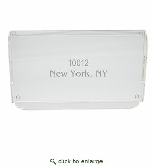 PERSONALIZED ZIP CODE SERVING TRAY WITH HANDLES