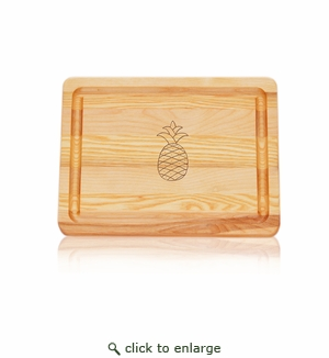 Pineapple Master Collection 10'' x 7.5'' Small Cutting Board