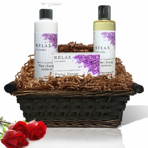 Pure|Energy Apothecary : Daily Delight Gift Set # 1 Lavender with Basket