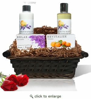 Pure|Energy Apothecary : Daily Delight Gift Set #1 Pure Aromatherapy with Basket