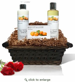 Pure|Energy Apothecary : Daily Delight Gift Set # 1 Satsuma with Basket