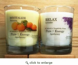 Pure Energy Apothecary Lavender and Satsuma Candles