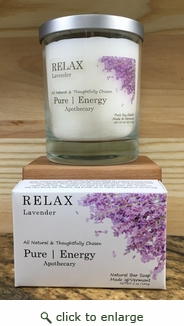 Pure Energy Apothecary Lavender Soap and Candle Set