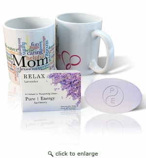 Pure Energy Apothecary Lavender soap and Mom Mug Set