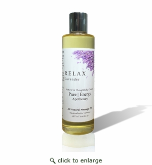 Pure|Energy Apothecary Massage Oil - Lavender 8 oz