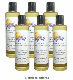 Pure|Energy Apothecary Massage Oil - Pure Aromatherapy 8 oz : Case of 6