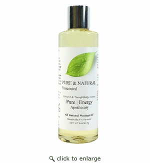 Pure|Energy Apothecary Massage Oil - Pure & Natural 8 oz