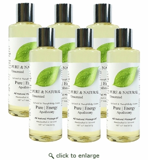 Pure|Energy Apothecary Massage Oil - Pure & Natural 8 oz : Case of 6