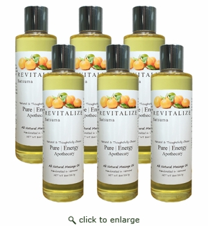 Pure|Energy Apothecary Massage Oil - Satsuma 8 oz : CASE OF 6