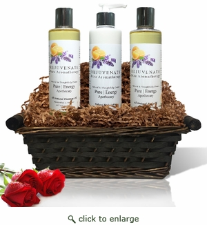 Pure|Energy Apothecary : Moisture Madness Gift Set #2 Pure Aromatherapy with Basket