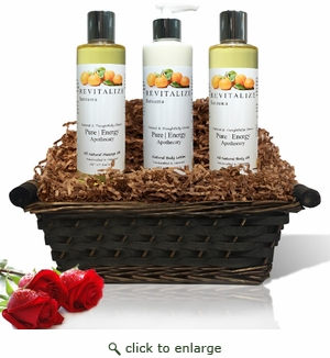Pure|Energy Apothecary : Moisture Madness Gift Set # 2 Satsuma with Basket