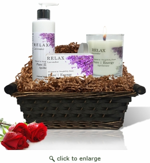 Pure|Energy Apothecary� : Nourishing Balance Gift Set # 5 Lavender with Basket