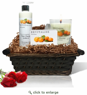 Pure|Energy Apothecary : Nourishing Balance Gift Set # 5 Satsuma with Basket